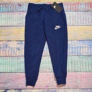 Nike Joggers Girls XS Blue Sweatpants NWT